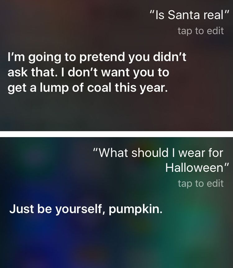 Funny things to ask Siri: Is Santa real?