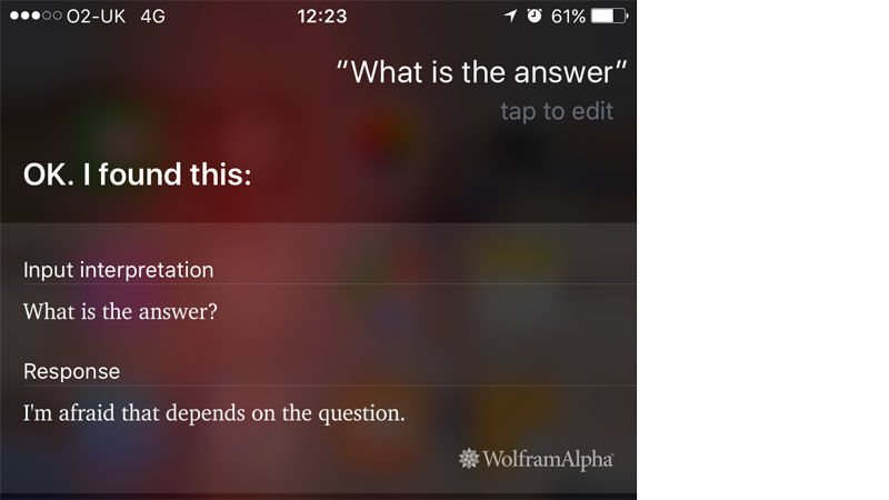 Funny things to ask Siri: What is the answer?